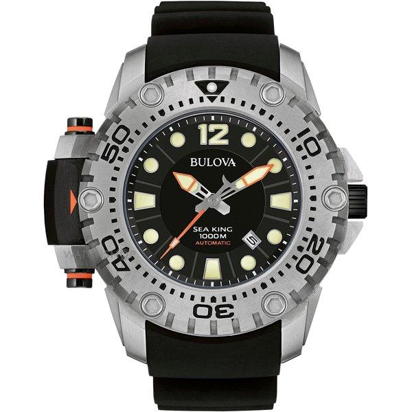ブローバ 腕時計 シーキング UHFコレクション 世界限定500本 ブラック×ブラックラバーベルト