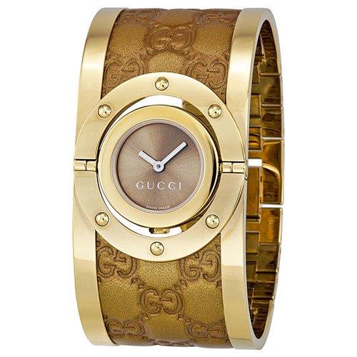 グッチ 腕時計 レディース トワール YA112434 ブラウンダイアル×ゴールドステンレスベルト