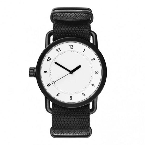 ティッドウォッチズ 腕時計 No1 ホワイト×ブラックナイロンベルト