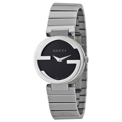 グッチ 腕時計 レディース インターロッキング YA133502 ブラックダイアル×ステンレスベルト