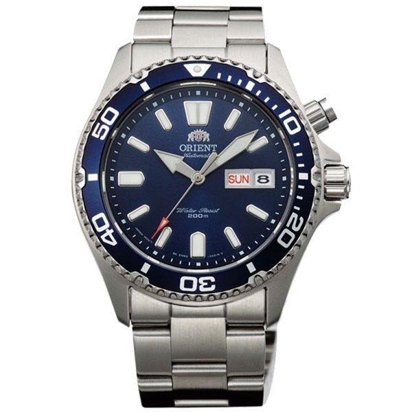 オリエント 腕時計 EM6500HD ブルー×ステンレススチールベルト