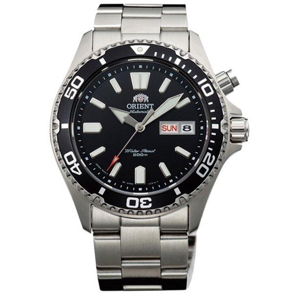 オリエント 腕時計 EM6500FB ブラック×ステンレススチールベルト