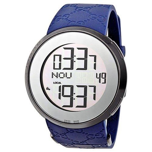 グッチ 腕時計 I-グッチ デジタル YA114208  デジタルダイアル×ブルーラバーベルト