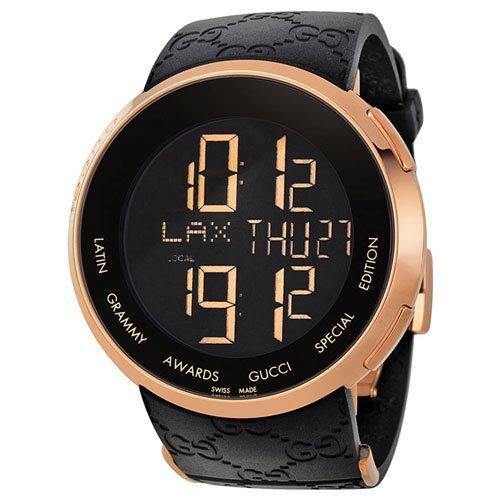 グッチ 腕時計 I-グッチ デジタル YA114222  デジタルダイアル×ブラックラバーベルト
