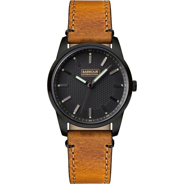 バブアー インターナショナル 腕時計 ジャロー BB026BKTN ブラック×ブラウンレザーベルト