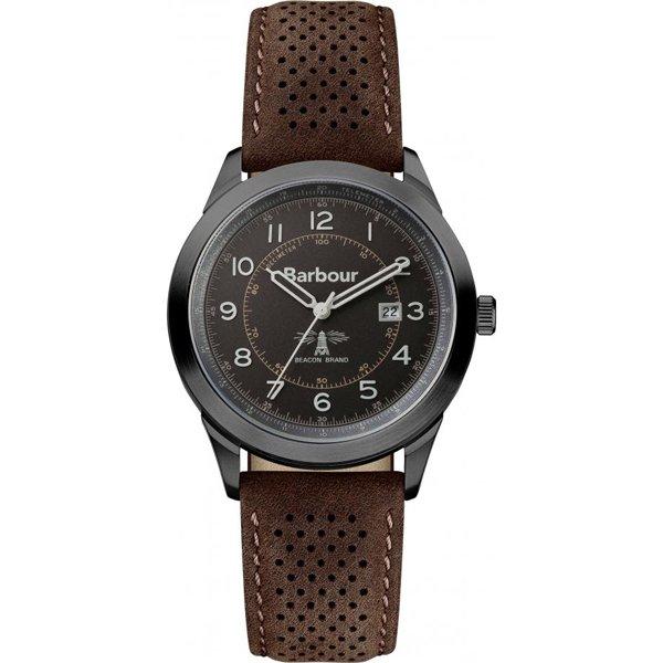バブアー 腕時計 ウォーカー BB017GNBR ブラック×ダークブラウンレザーベルト