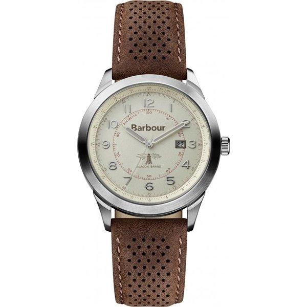 バブアー 腕時計 ウォーカー BB017CPBR クリーム×ダークブラウンレザーベルト