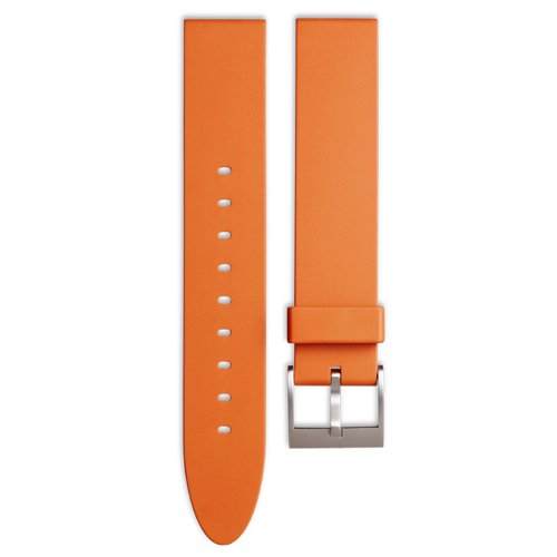 ユニフォームウェアーズ 腕時計 替えベルト オレンジラバーベルト ストレート