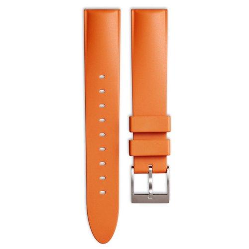 ユニフォームウェアーズ 腕時計 替えベルト オレンジラバーベルト テーパード