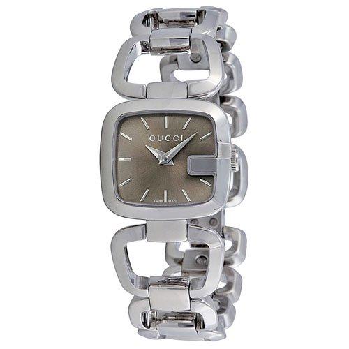 グッチ 腕時計 レディース G-グッチ YA125507 ブラウンダイアル×ステンレスベルト