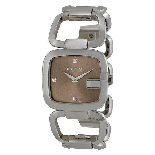 グッチ 腕時計 レディース G-グッチ YA125401 ブラウンダイアル×ステンレスベルト