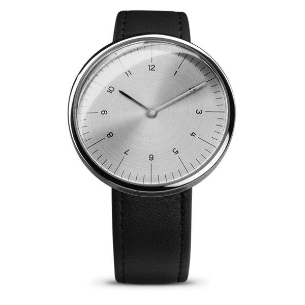 エムエムティー 腕時計 Cシリーズ C18 シルバー×ブラックレザーベルト