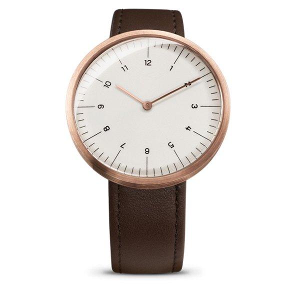 エムエムティー 腕時計 Cシリーズ C34 ホワイト×ブラウンレザーベルト