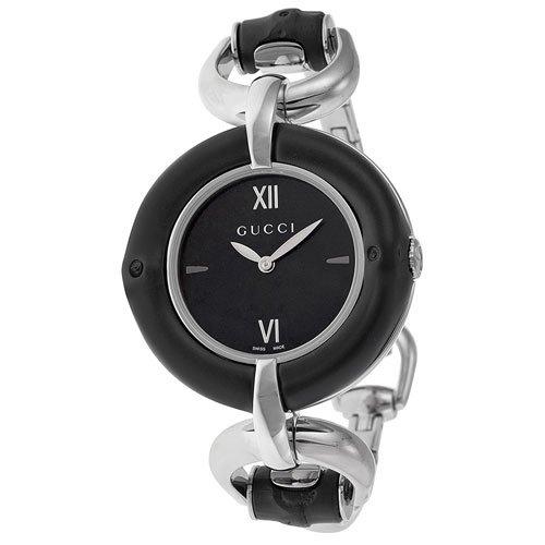 グッチ 腕時計 レディース バンブー YA132405 ブラックダイアル×ステンレスベルト
