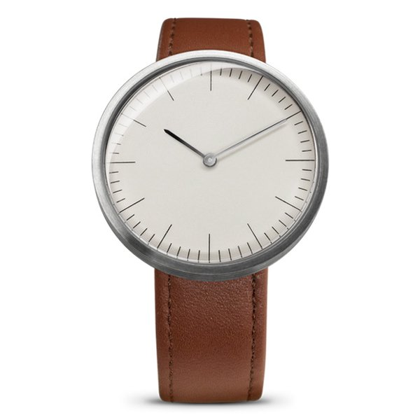 エムエムティー 腕時計 Cシリーズ C12 ホワイト×ブラウンレザーベルト