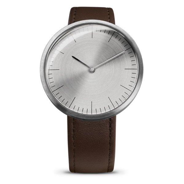 エムエムティー 腕時計 Cシリーズ C16 シルバー×ブラウンレザーベルト