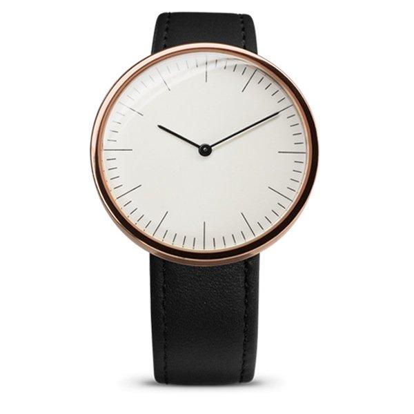 エムエムティー 腕時計 Cシリーズ C31 ホワイト×ブラックレザーベルト