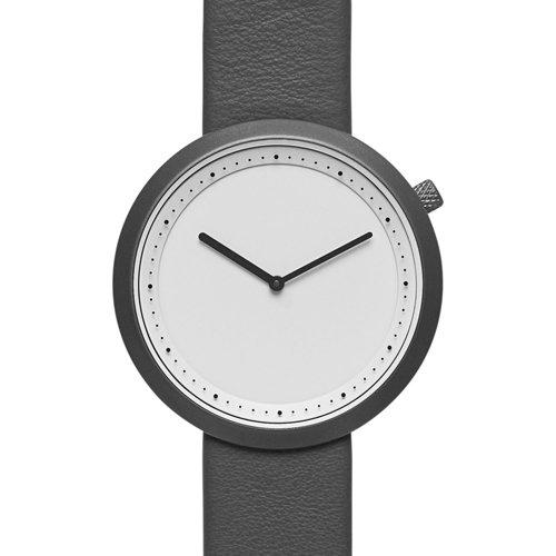 ブルブル 腕時計 Facette 02 ホワイト×ブラックレザーベルト