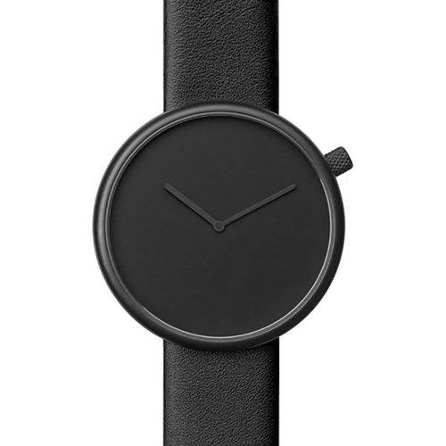 ブルブル 腕時計 Ore 01 ブラック×ブラックレザーベルト