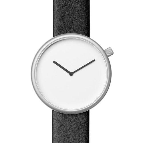 ブルブル 腕時計 Ore 02 ホワイト×ブラックレザーベルト