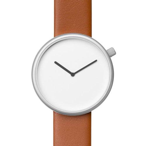 ブルブル 腕時計 Ore 03 ホワイト×ブラウンレザーベルト