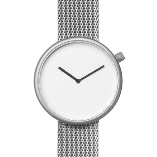 ブルブル 腕時計 Ore 06 ホワイト×シルバーメッシュベルト