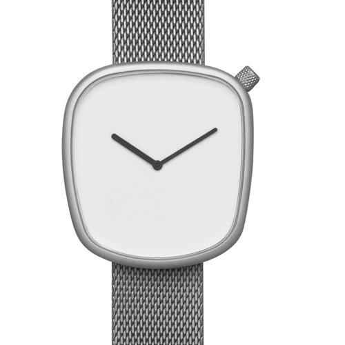 ブルブル 腕時計 ペブル06 ホワイト×シルバーメッシュベルト