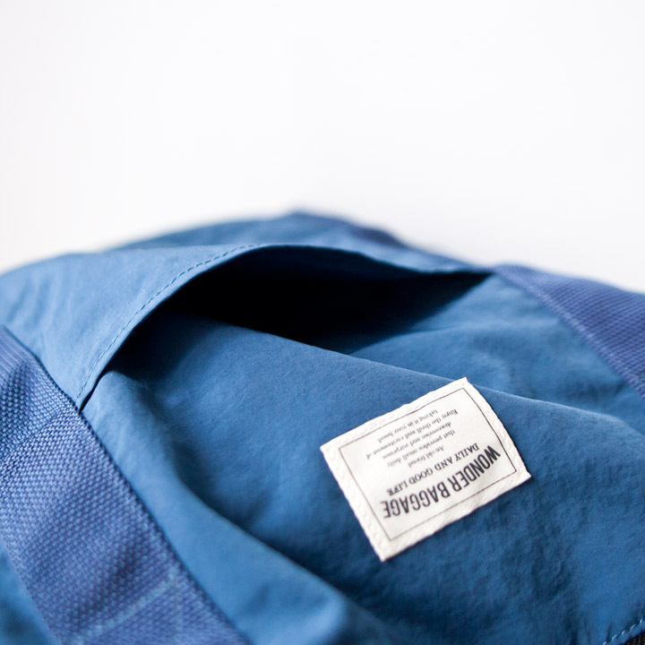 WONDER BAGGAGE ワンダーバゲージ / Relax sack tote 2 :blue × navy リラックスザックトート2