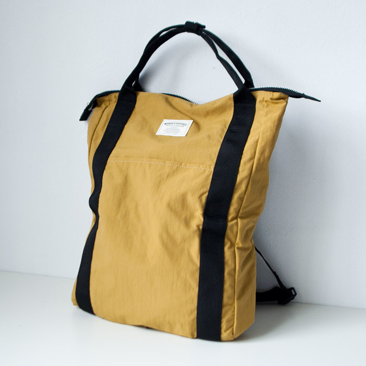 "WONDER BAGGAGE ワンダーバゲージ / Relax sack tote 2 : mustard マスタード"" style="