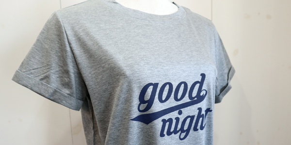 【QTUME】Good night プリントチュニックTEE【Made in Japan】