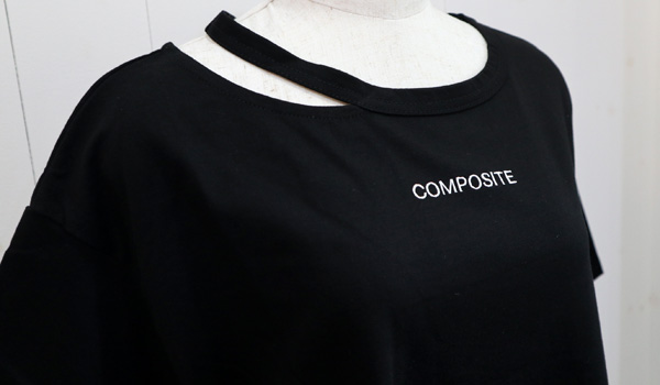 【CYNICAL】『COMPOSITE』ロゴ刺繍TEE