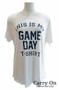 【LA Import】GAME DAYプリントTEE