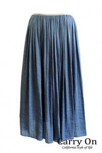 【PARLMASEL】ヴィンテージツイルギャザースカート【Made in Japan】