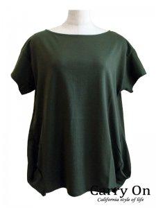 【Praise】裾タックTシャツ【Made in Japan】