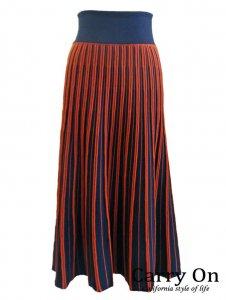 【Praise】求心編み配色ニットスカート【Made in Japan】