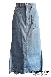 【CYNICAL】リメイク風デニムロングスカート