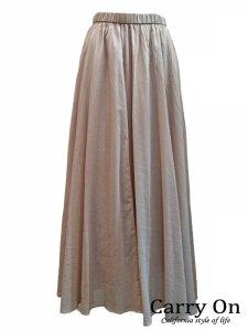 【新色入荷】【Dignite collier】コットンフレアーロングスカート