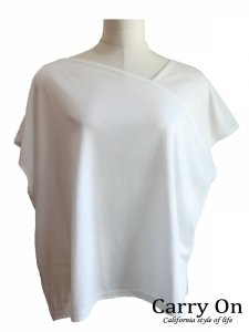 【CYNICAL】アシンメトリーネックTシャツ【Made in Japan】