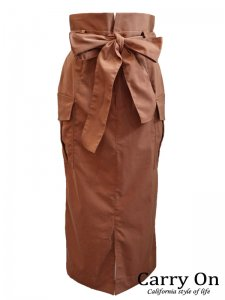 【QTUME】ハイウェストミリタリースカート