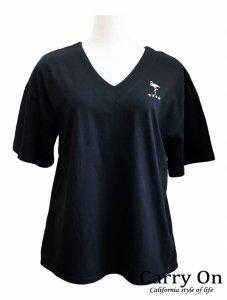 【QTUME】フラミンゴスター刺繍Tシャツ