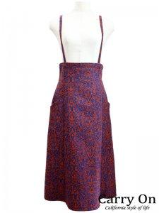 【QTUME】ジャガードサスペンダー付きスカート