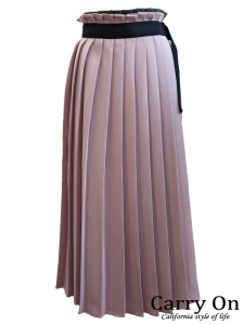 【Dignite collier】配色切り替えラッププリーツスカート
