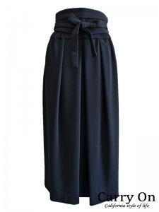 【QTUME】マットストレッチポンチカマーベルト付きスカート【Made in Japan】