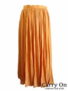 【PARLMASEL】ヴィンテージサテンギャザースカート【Made in Japan】