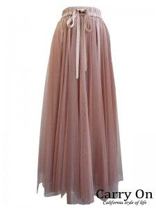 【Dignite collier】チュールマキシスカート