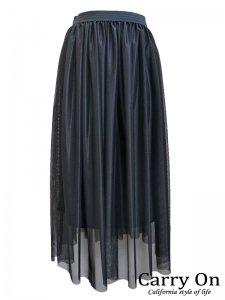 【QTUME】シャイニーフレアースカート【Made in Japan】