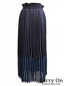 【QTUME】ドッキングプリーツスカート