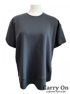 【Dignite collier】裾切替スリットTシャツ