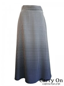 【QTUME】グラデーションフレアースカート