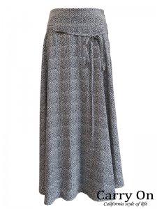 【CYNICAL】柄ラップ風フレアースカート